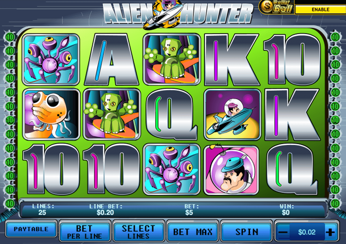 alien hunter playtech