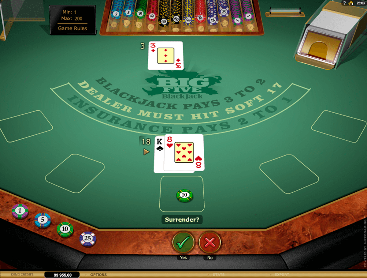 big  blackjack gold microgaming