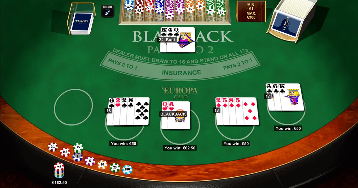 blackjack multihand 5 playtech