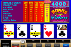bonus poker delue microgaming