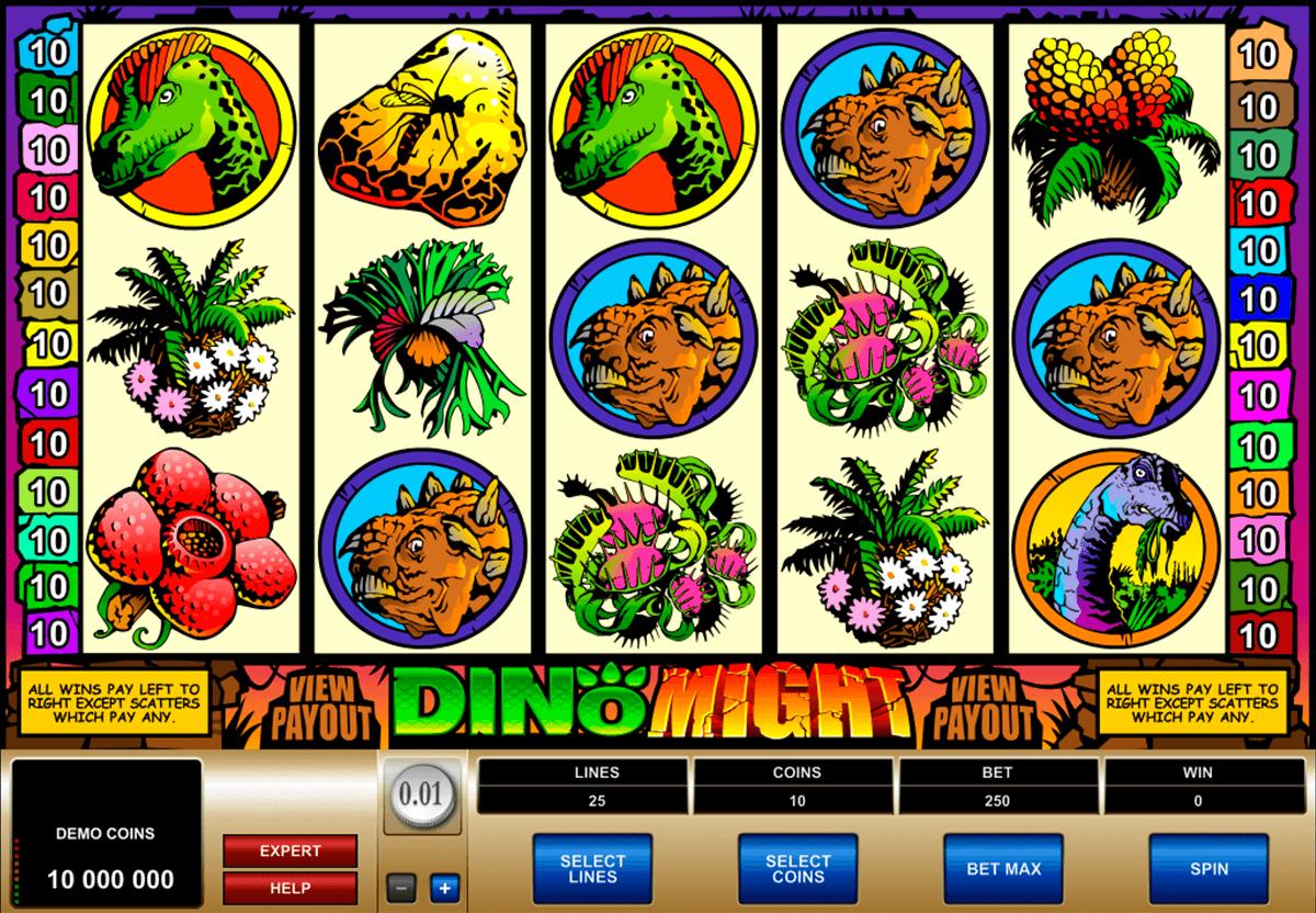 dino might microgaming