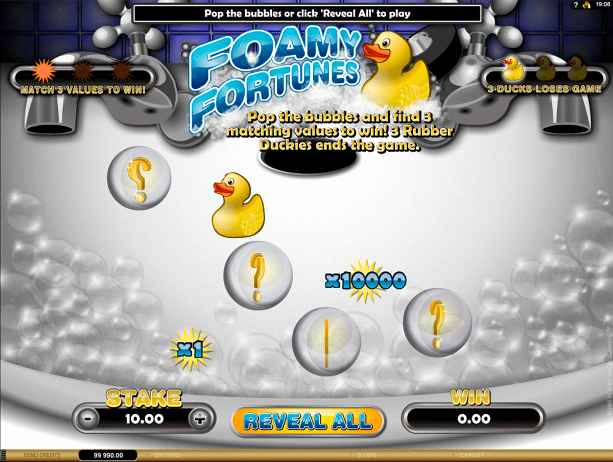 foamy fortunes microgaming