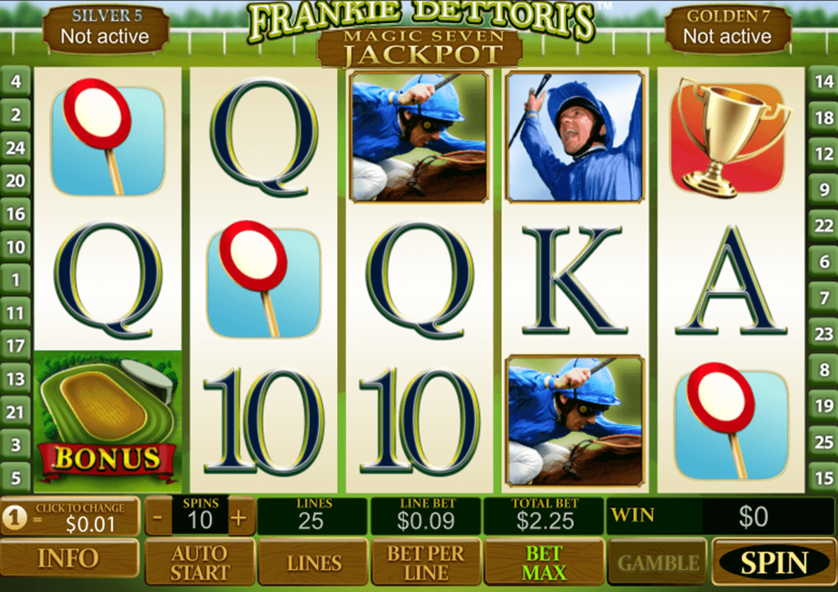 frankie dettoris magic  jackpot playtech