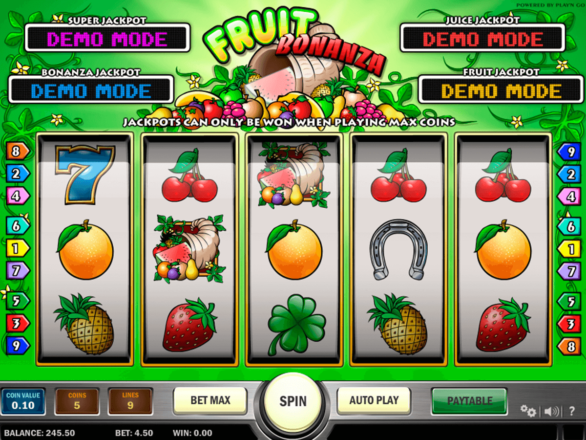 fruit bonanza playn go