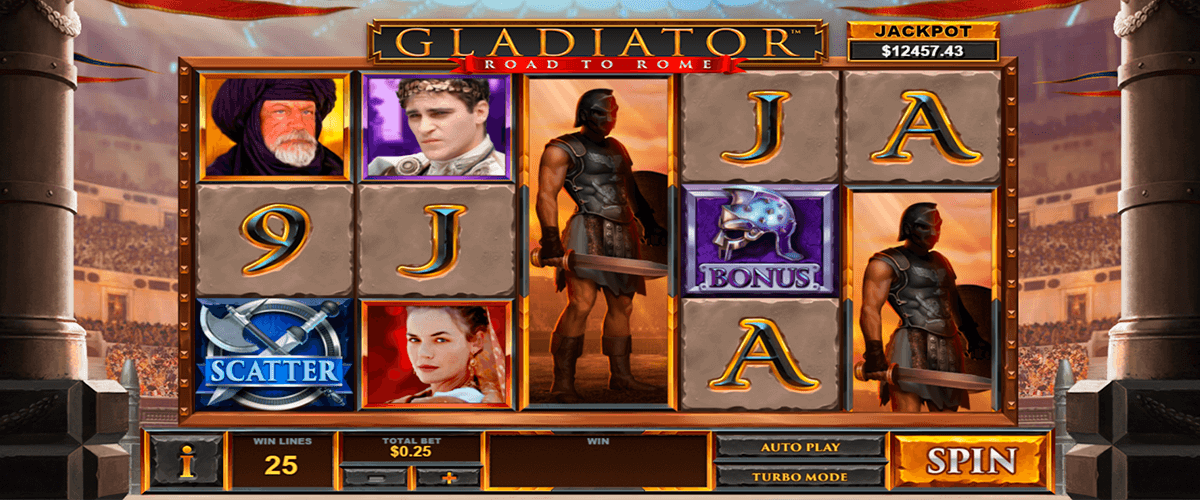 gladiator road to rome playtech