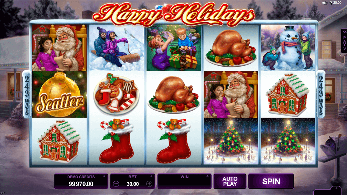 happy holidays microgaming