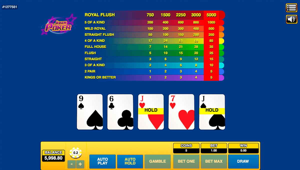 joker poker habanero