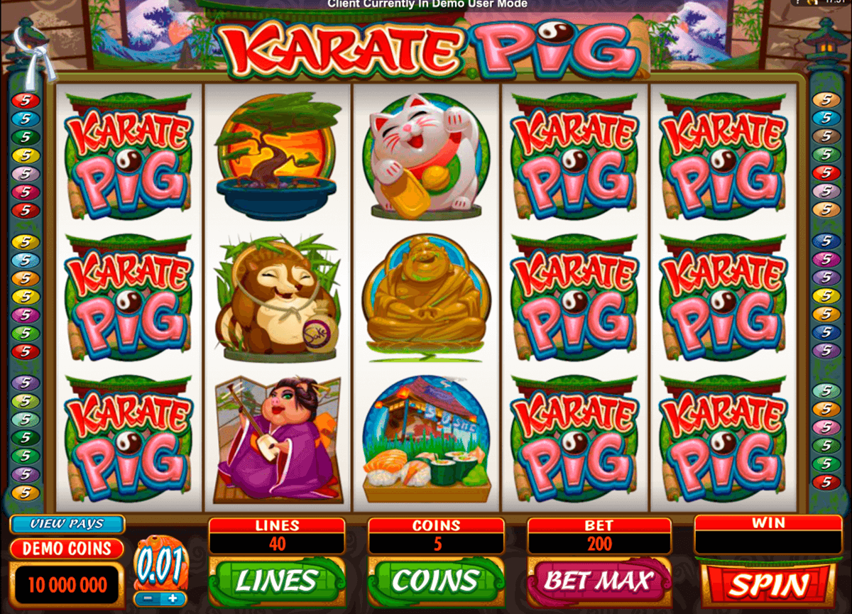 karate pig microgaming