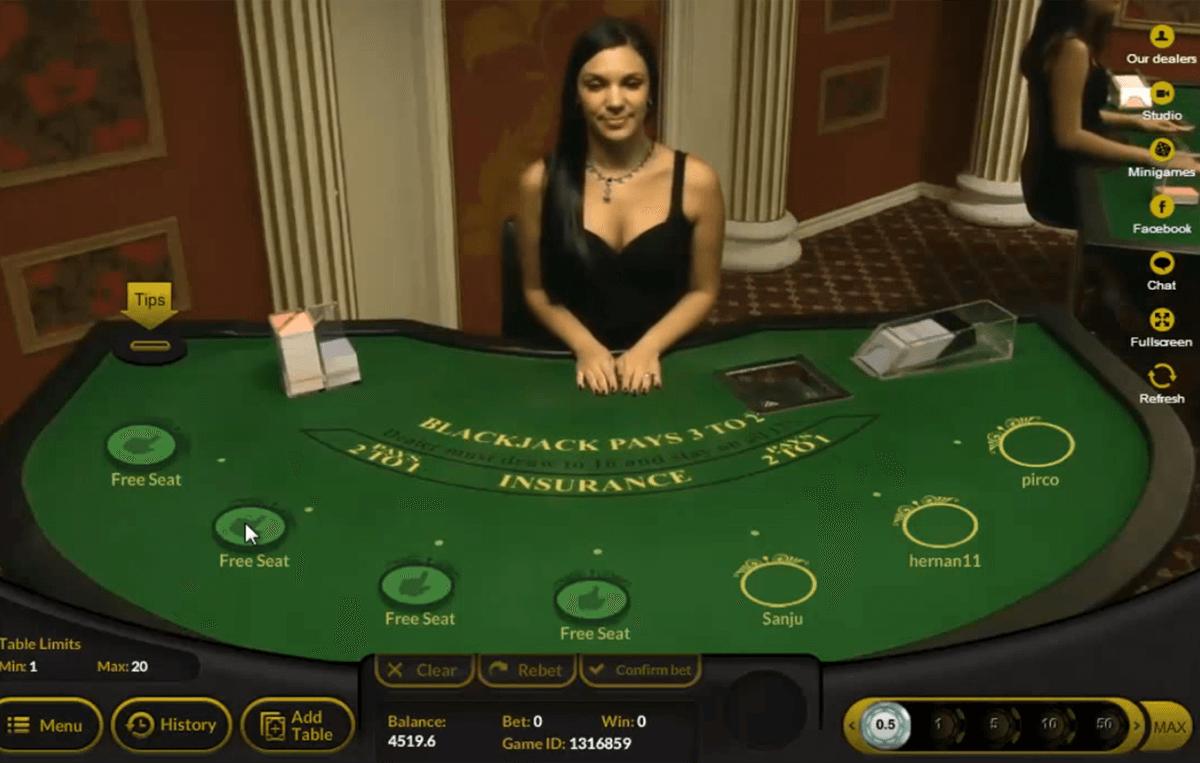live blackjack ezugi