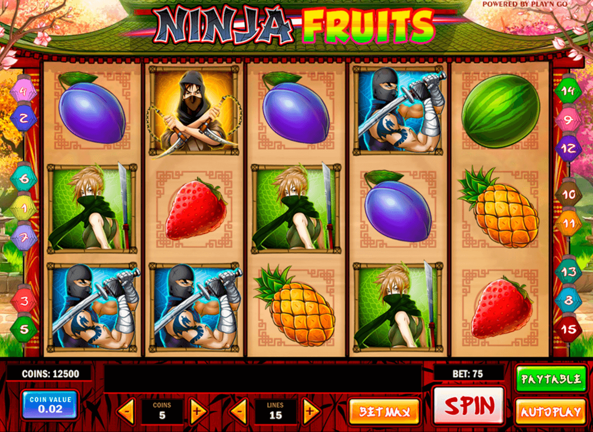 ninja fruits playn go