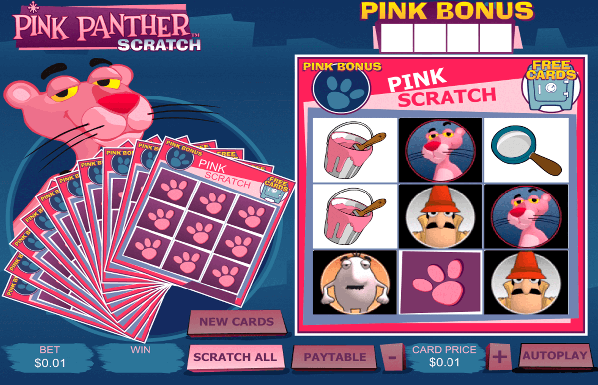 pink panther scratch playtech