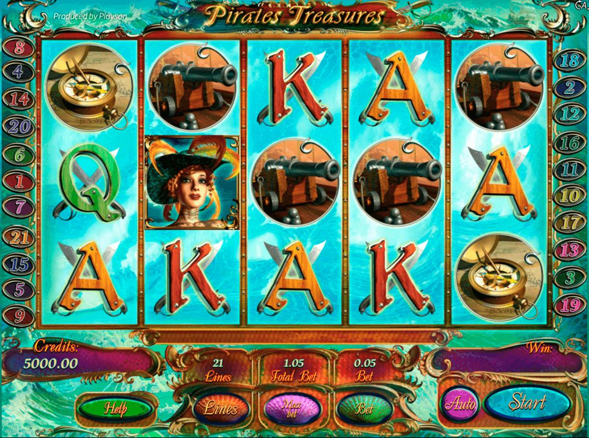 pirates treasures delue playson