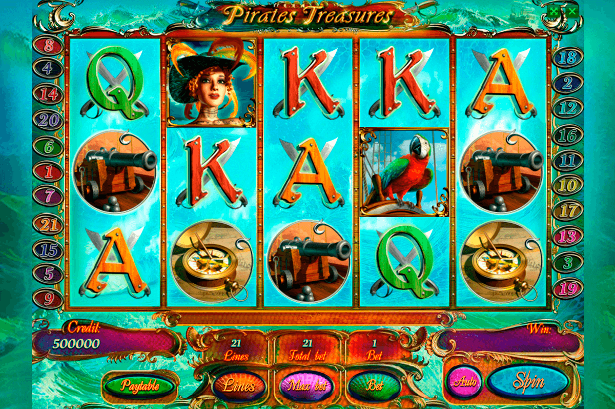pirates treasures playson