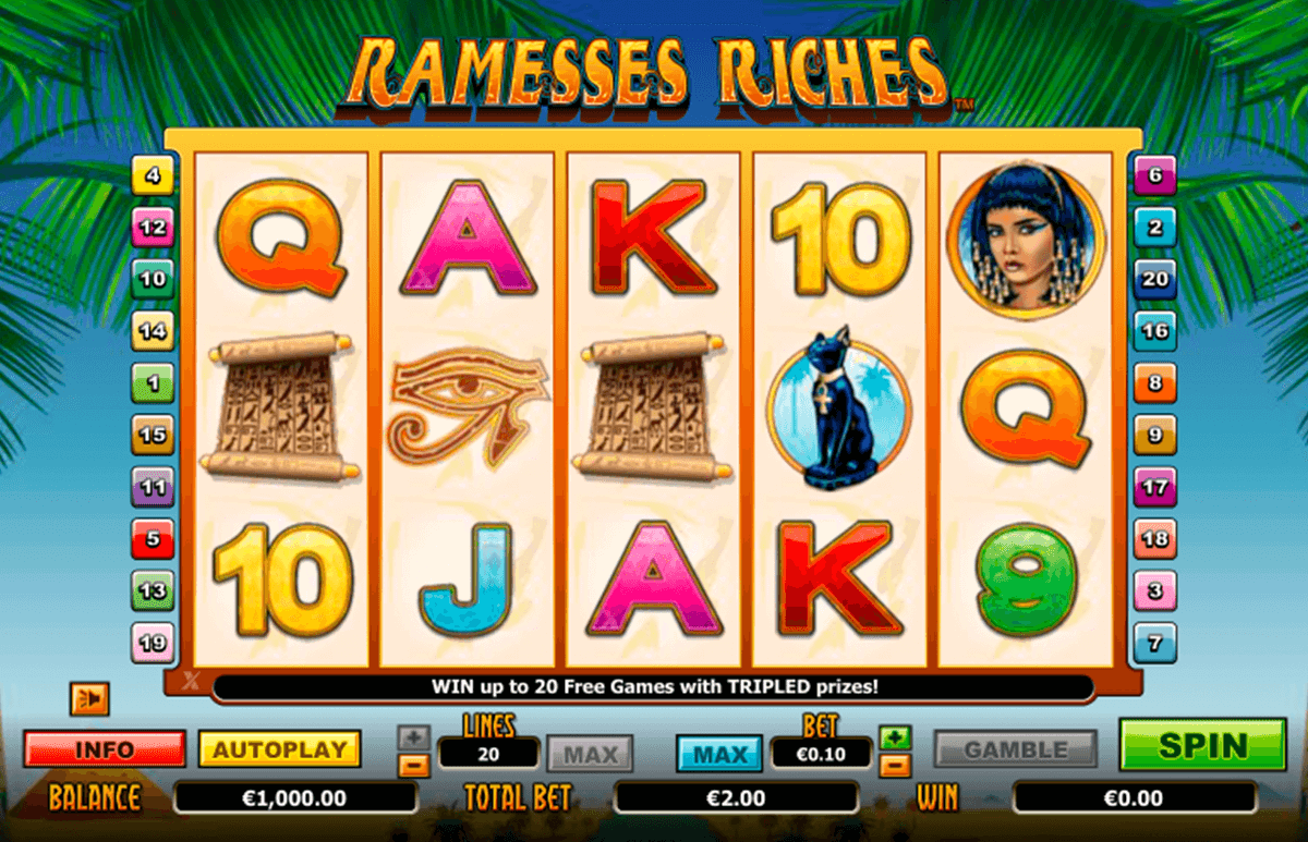 ramesses riches netgen gaming