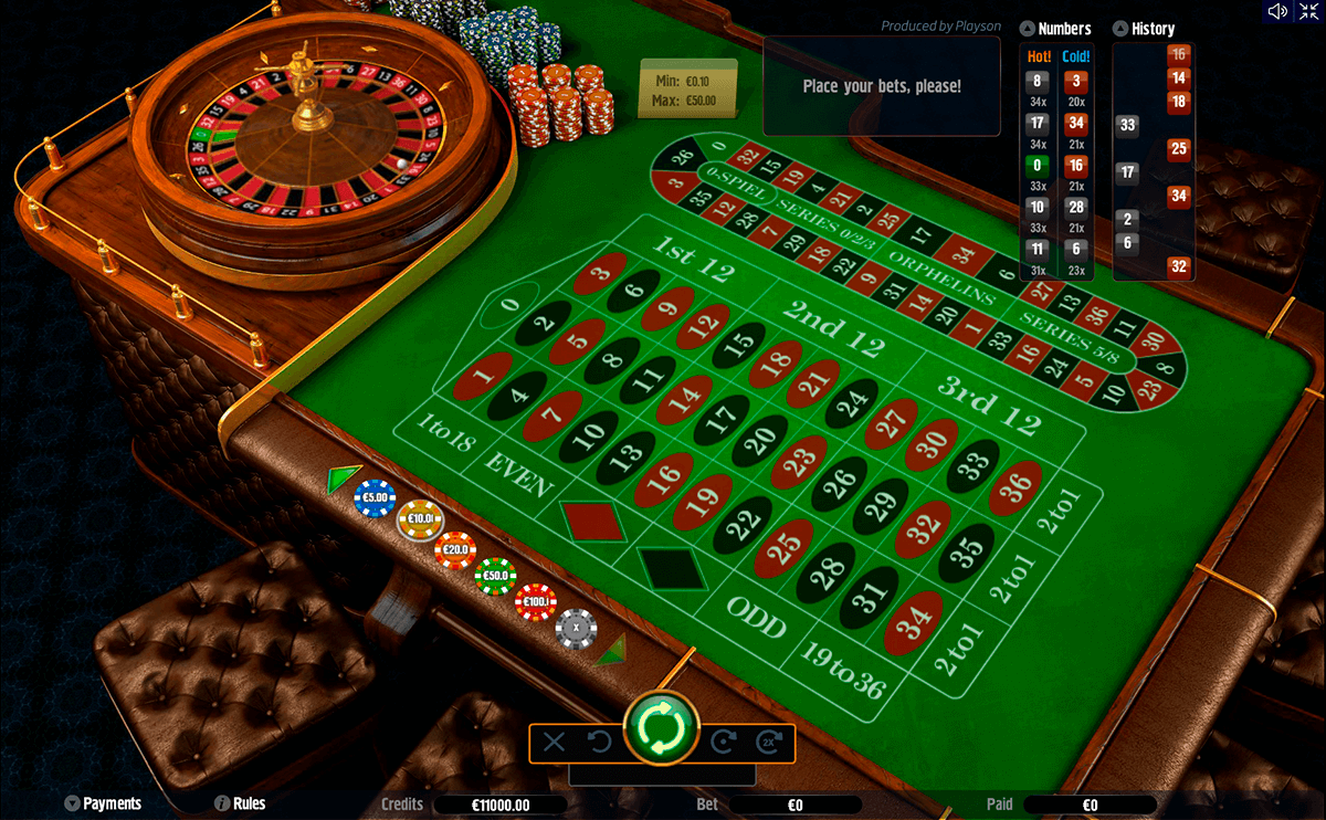 roulette with track low playson