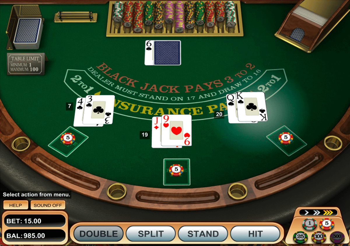 single desk blackjack betsoft