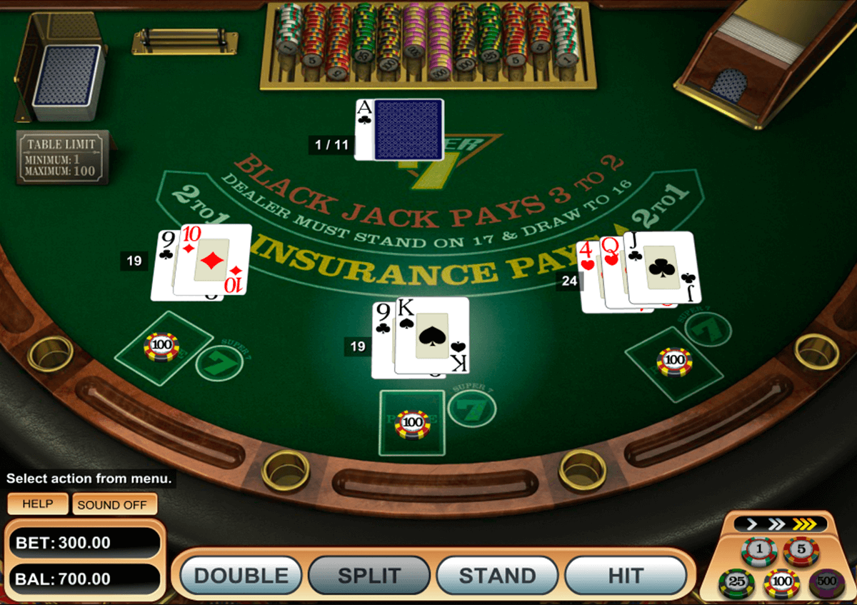 super 7 blackjack betsoft