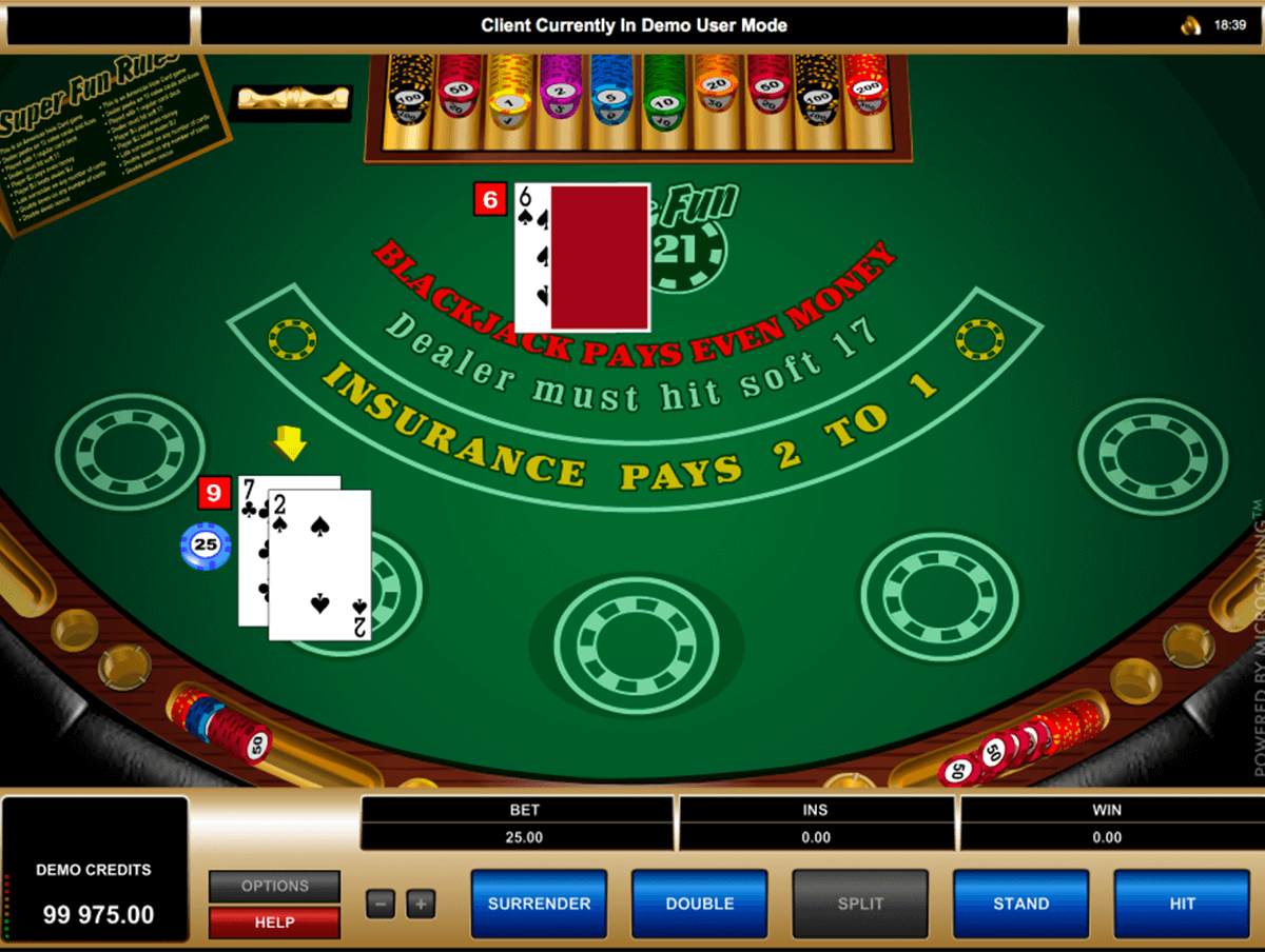 super fun 21 blackjack microgaming
