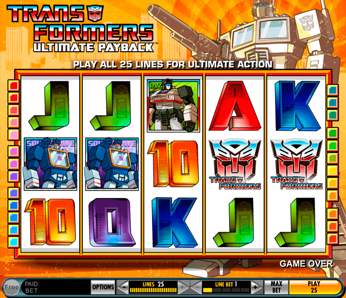 transformers ultimate payback igt