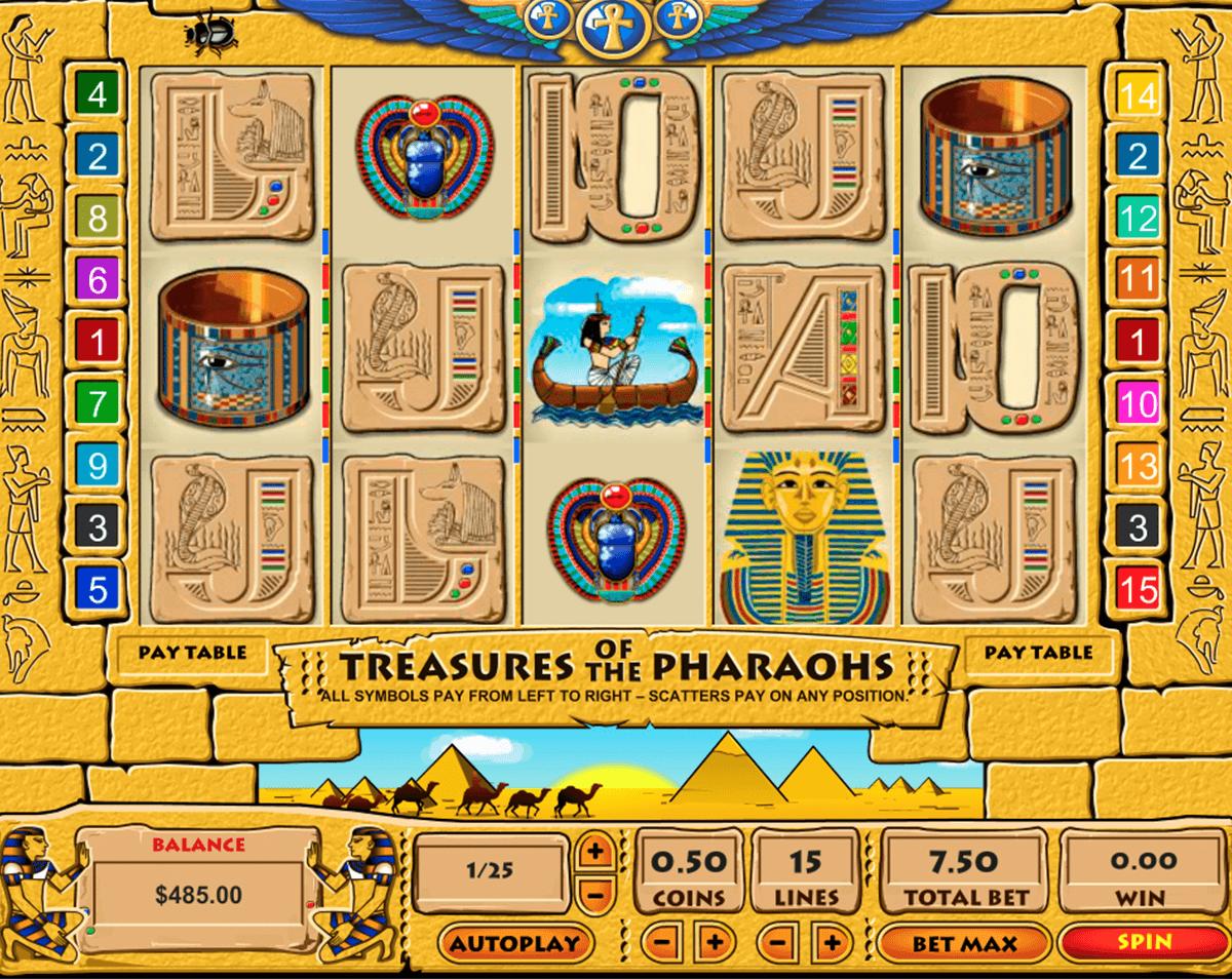 treasure of the pharaohs pragmatic