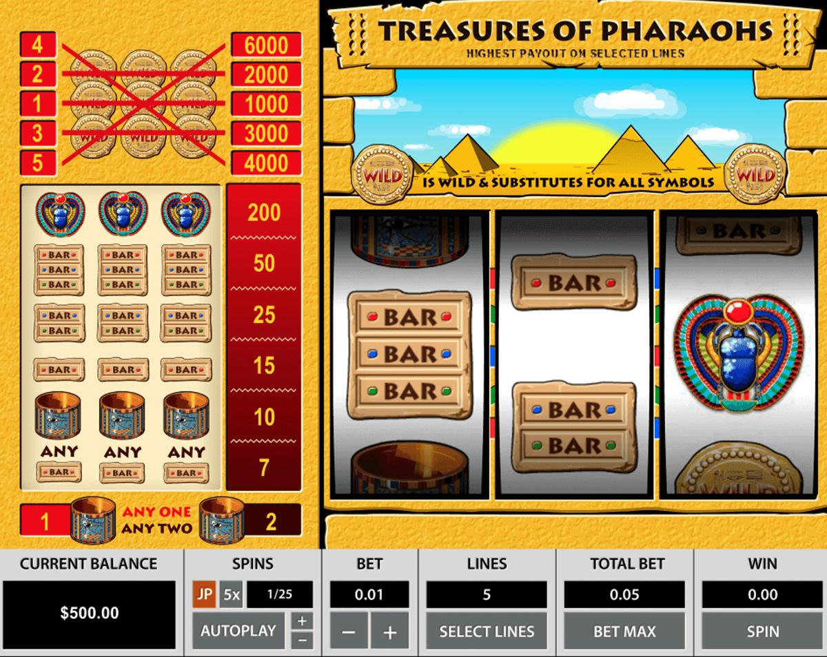 treasures of the pharaohs pragmatic
