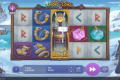 viking gods thor and loki playson